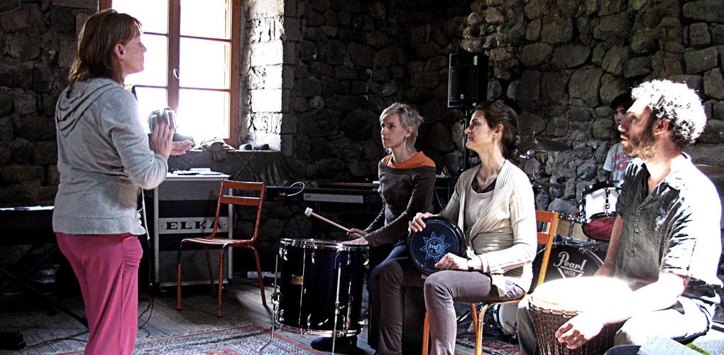 Gilles Erhart - Formations professionnelles. Stage Goudet. Moment de création.